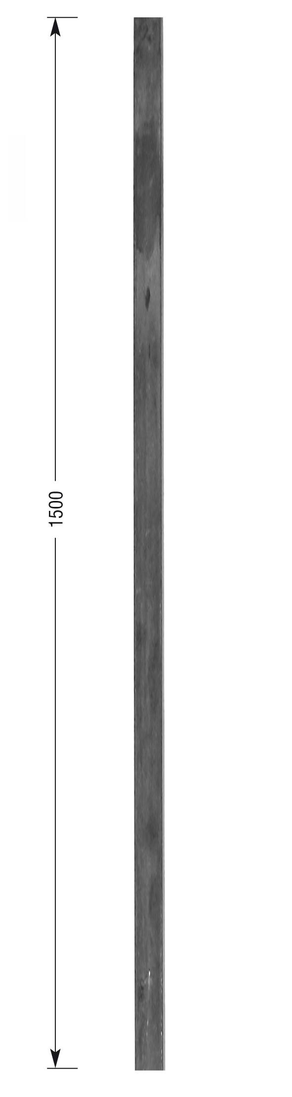 barreau forg fer carr lisse hauteur 1500 mm montants. Black Bedroom Furniture Sets. Home Design Ideas