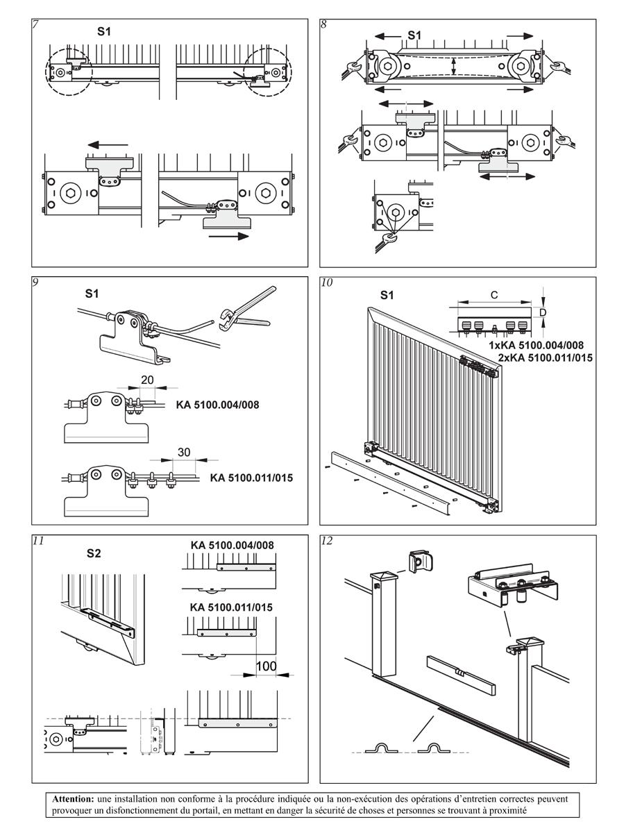 kit portail coulissant t lescopique ouverture jusqu 39 8 m tres portails coulissants accessoires. Black Bedroom Furniture Sets. Home Design Ideas