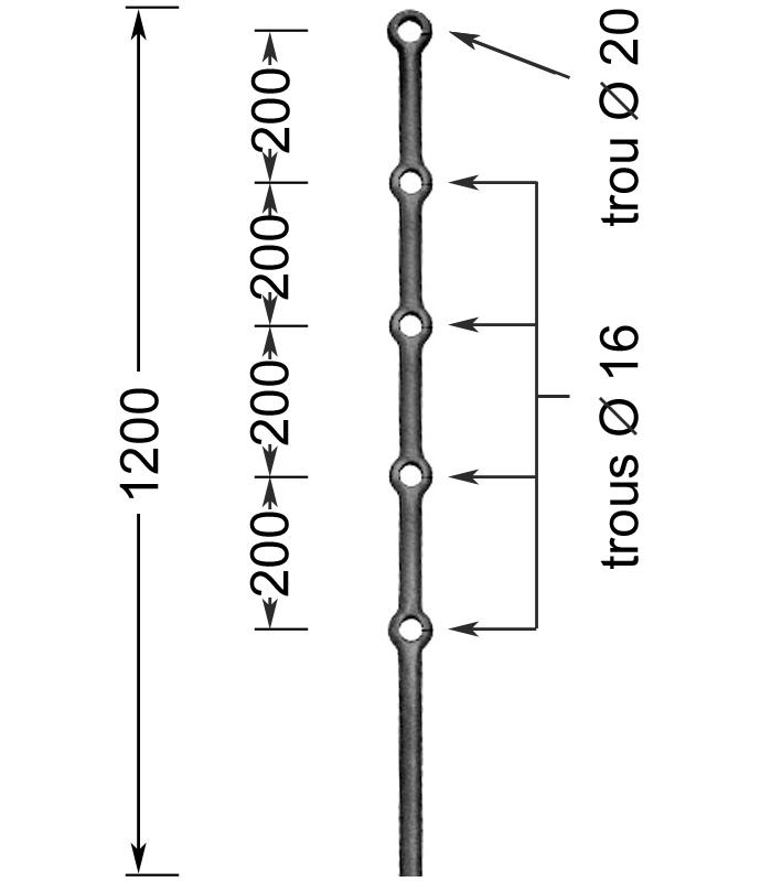 montant fort hauteur 1200 mm montants forts elements en fer forg 233 pi 233 ces d 233 tach 233 es ferronnerie
