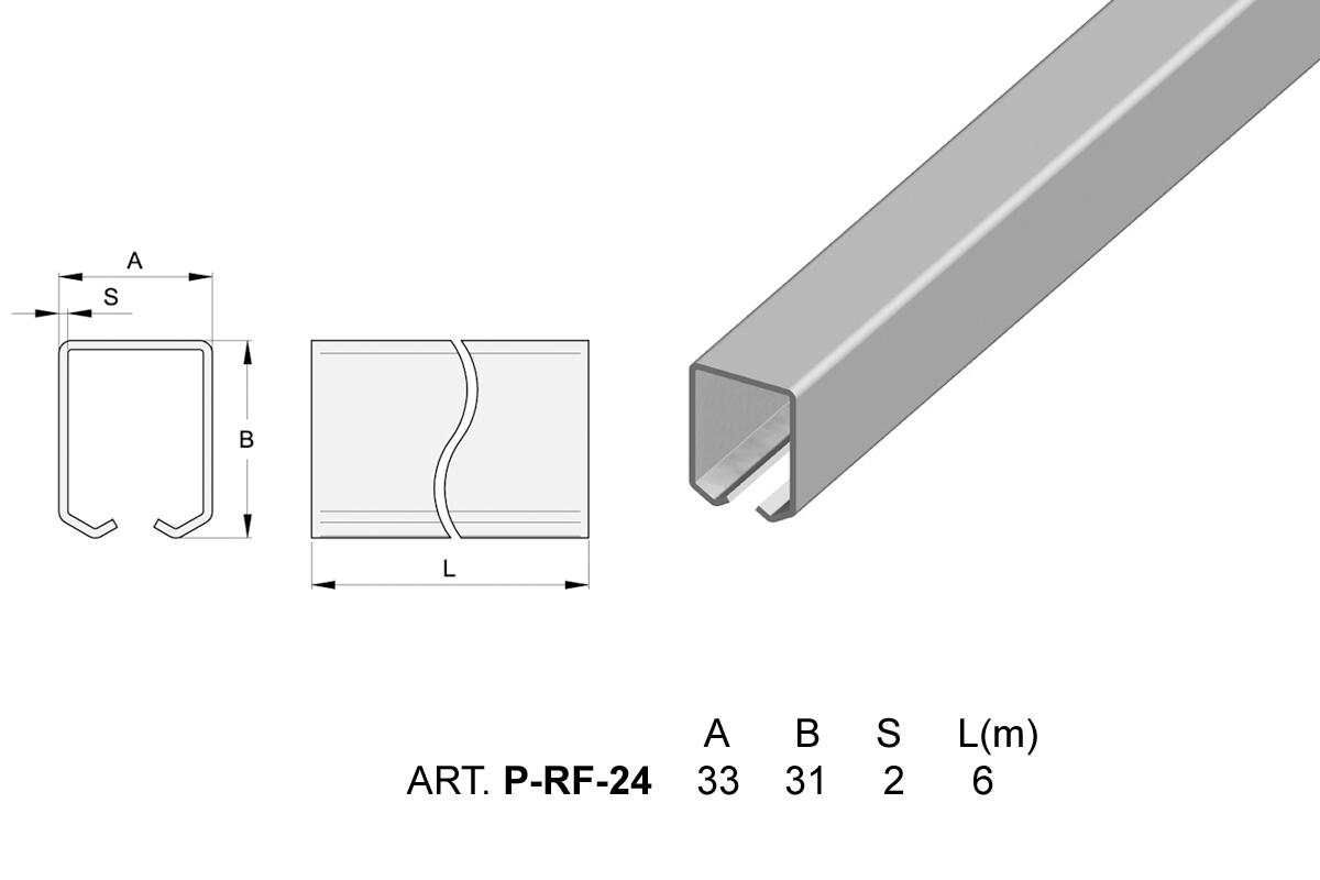 Rail zingu pour porte suspendue hauteur 6000 mm accessoires portes suspendue - Rail porte suspendue ...