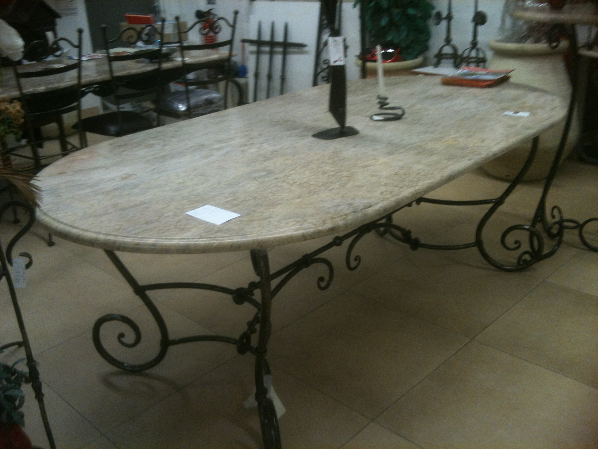 Table ovale pi tement haut 0 73 m plateau long 2 20 m x for Plateau table ovale