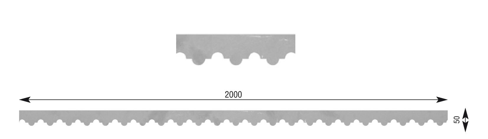 t le d corative hauteur 50 mm x longueur 2000 mm x. Black Bedroom Furniture Sets. Home Design Ideas